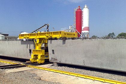 A Concresul utiliza um concreto com especificação exclusiva nas vigas pré-moldadas, fazendo a cura térmica com vapor d'água