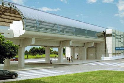 Desenho de como ficará a estação São Leopoldo, quando finalizada