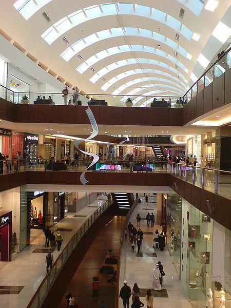 Imagem dos corredores do Dubai Mall