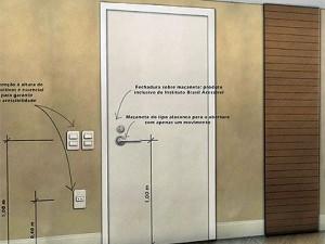 Portas com fechaduras invertidas facilitam o apoio e evitam quedas